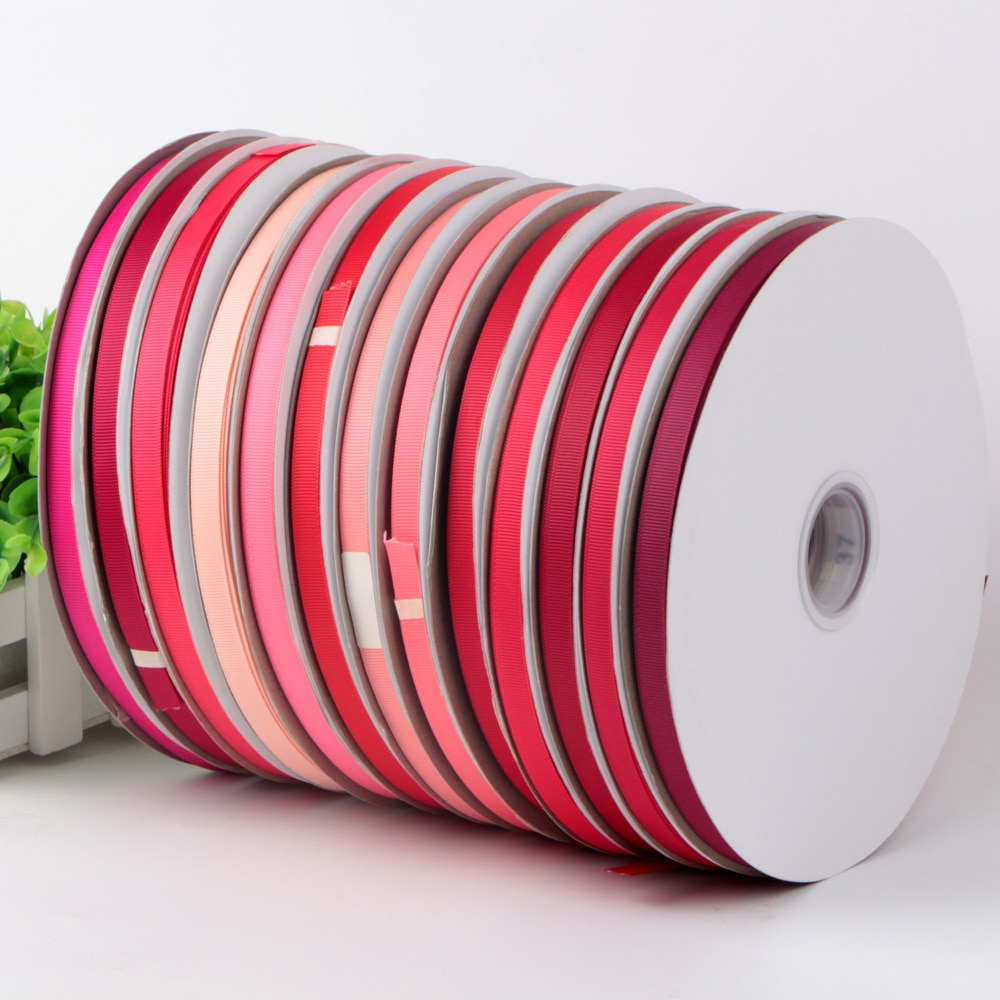 100 yards/farbe, pick größe 6 9 16 22 25 32 50 63 75mm einfarbig Grosgrain Bänder für DIY stirnband bekleidung haar zubehör