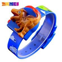 SKMEI montre enfant mignon dessin animé créatif dinosaure modèle garçons et filles enfants montres Sport numérique montres-bracelets relojes