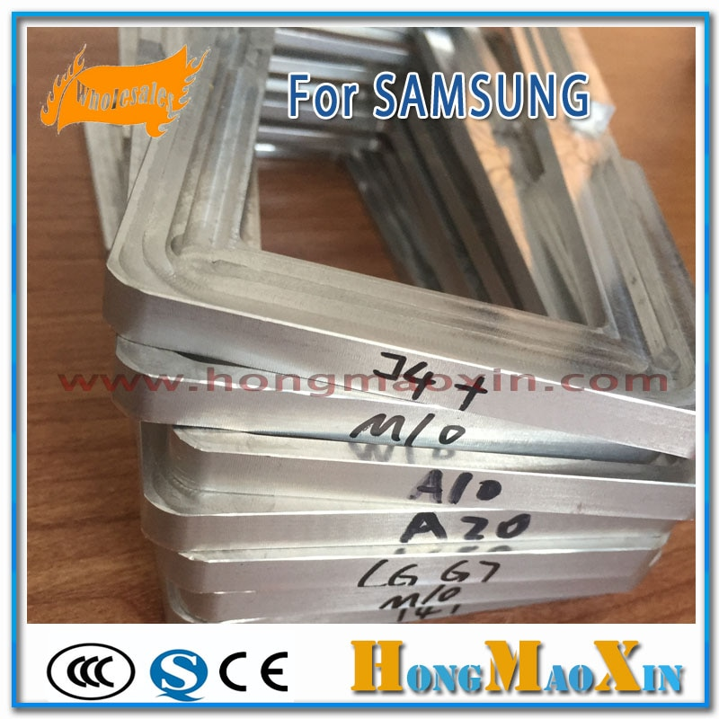 Soporte de molde de alineación de posición de cristal exterior LCD para Samsung A10 A20 A30 A40 A50 A70 A80 A90 OCA película UV pegamento de aluminio molde de Metal