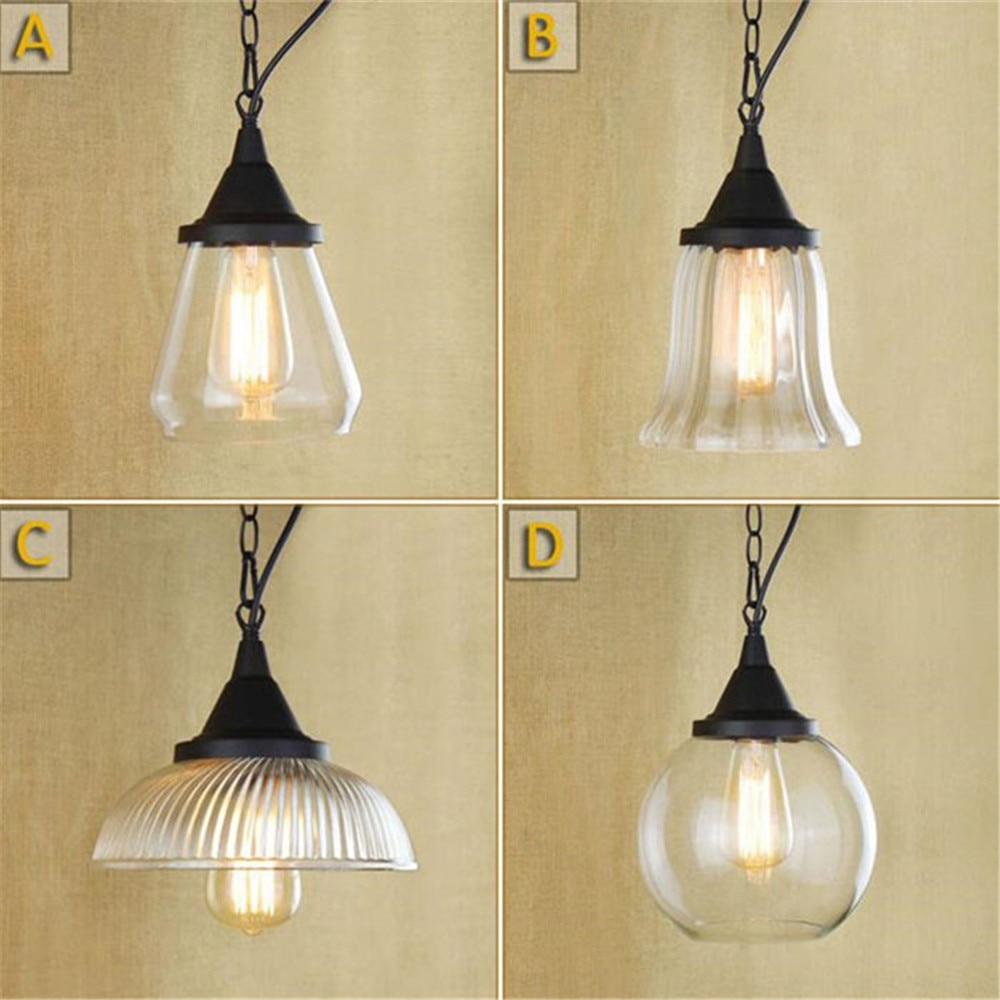 Nordic país da américa minimalista quarto de vidro, cozinha ferro forjado pendurado luzes pingente lustre lampadari moderna lâmpada retro