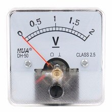 DH-50 2 V 3 V 5 V 10 V 15 V 30 V 50 V 75 V DC plage de mesure panneau voltmètre analogique