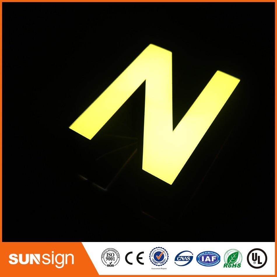 Фирменные магазины, рекламные зеркальные светодиодный светодиодные буквы из нержавеющей стали
