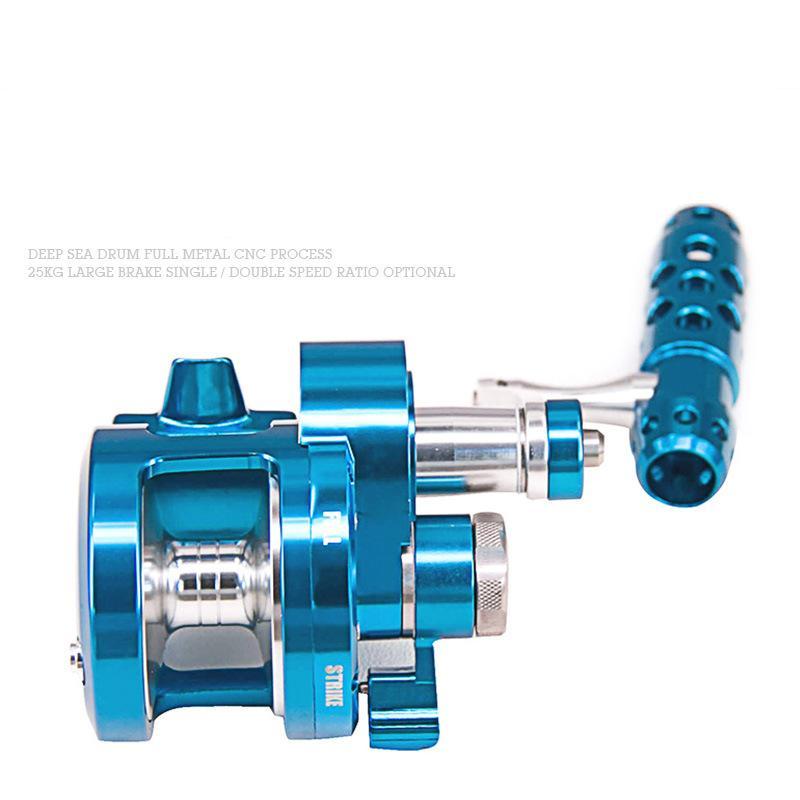 CNC full metal Sea fishing Drum wheel LD04 Two-speed ratio 25KG Super strong Carbon cloth Brake force Boat fishing wheel enlarge