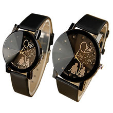 Мода для влюбленных 2017 кварцевые часы для женщин для мужчин Пара наручные повседневное Forever Love часы