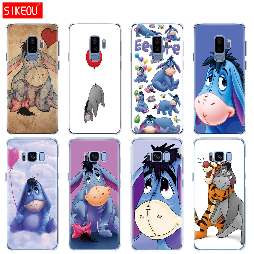 Силиконовый чехол для Samsung Galaxy S9 S8 S7 S6 edge S5 S4 S3 PLUS, чехол для телефона Baby Eeyore Donkey