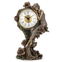 Horloge britannique en cuivre   Série dart, fonte à froid procédé européen beauté et fleur de pavot, décoration de la maison, Wanlang américaine