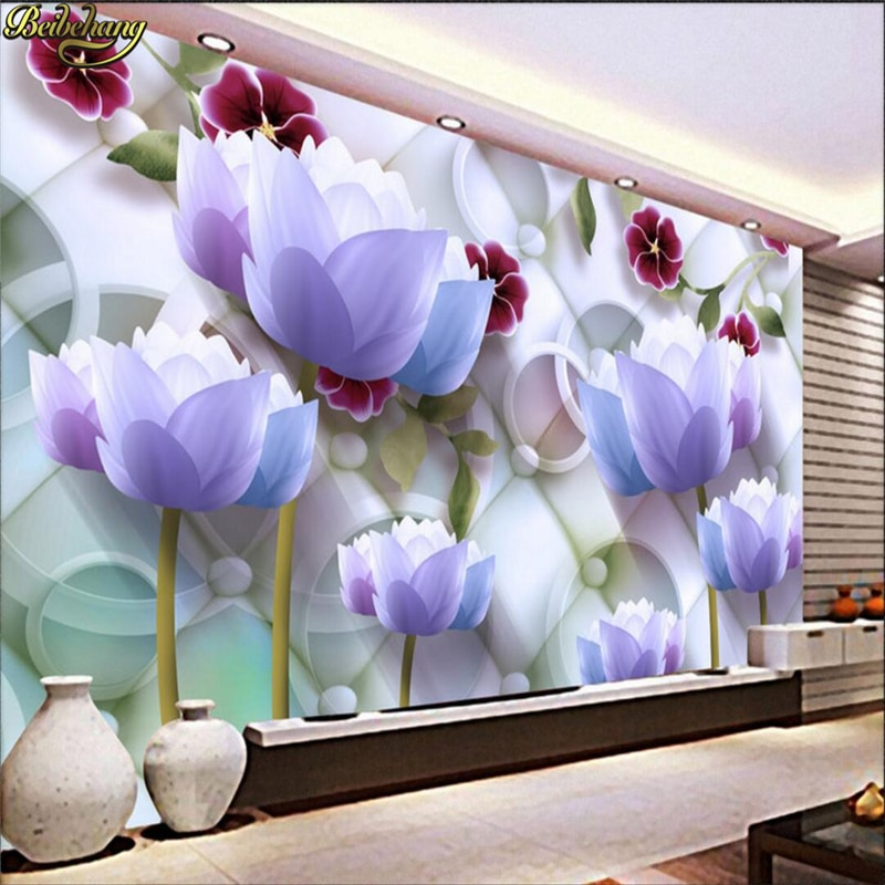 beibehang Custom photo wallpaper large mural 3D stereo lotus living room bedroom fashion background wall murals papel de parede beibehang new papel de parede 3d wallpaper chinese style simple wallpaper relief dream watercolor lotus lotus background tapety