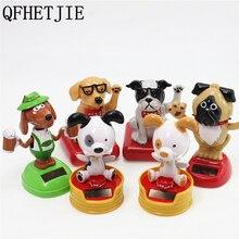 Tête de balançoire pour voiture 1 pièce   ABS, actionné solaire, chien, décoration Automobile, tableau de bord, jouets décoration Auto, cadeau poupée chien