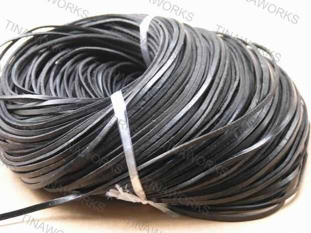 شحن مجاني 3*2 مللي متر مربع أسود جلد حقيقي الحبل 100 متر