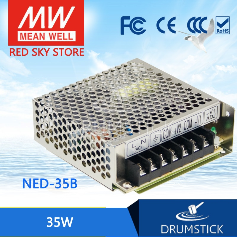 advantages mean well cen 75 15 15v 5a meanwell cen 75 15v 75w single output led power supply MEAN WELL NED-35B meanwell NED-35 35W Dual Output Switching Power Supply