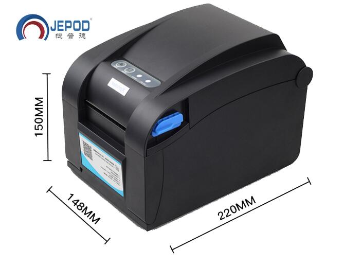XP-358BM Térmica Direta Linha USB + RS232 + interface LAN 3 impressora de código de barras térmica Impressora de Etiquetas de Código De Barras porta