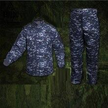 Uniformes militaires pour hommes armée NWU Marine Camouflage numérique Super cuirassé Style tactique veste de Combat Cargo pantalon costume CS