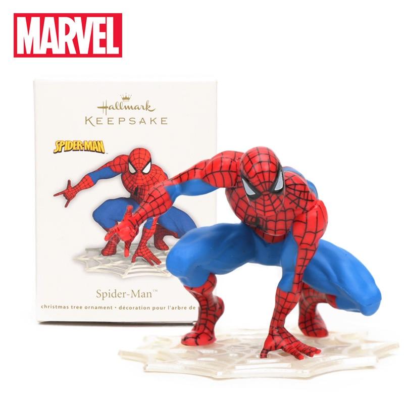 5cm Marvel Toys Superhero Comic Mini Spider-Man Homecoming PVC Action Figure Collection Model Doll Toys Christmas Tree Ornament