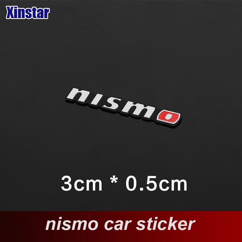 2 uds de aluminio auto nismo altavoz pegatina para Nissan nismo Altima Juke Pathfinder Murano Rogue Sentra viceversa Teana Sylphy