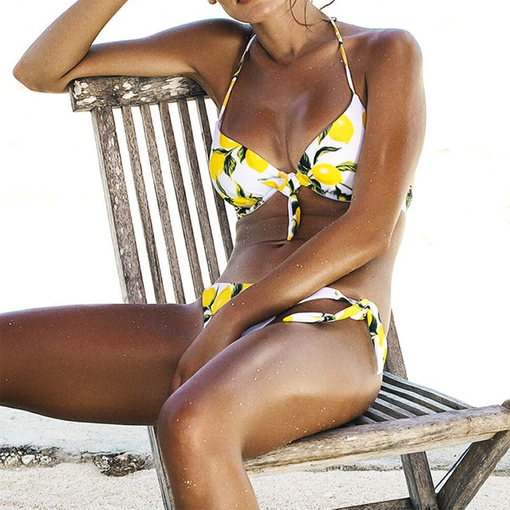 Mini Tanga con tiras, bikinis de cintura alta baratos para mujer, femenino 2019, bikini sexy brasileño, traje de baño modesto para mujeres y niñas, ropa de playa