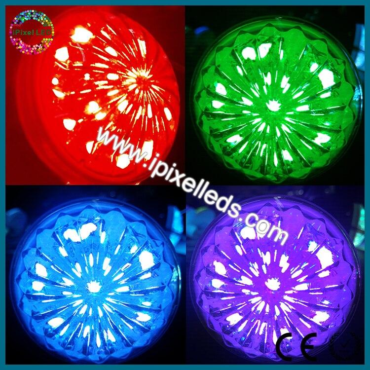 60mm cabujón RGB Pixel IP67 LED Luz de feria RGB luces LED para diversiones