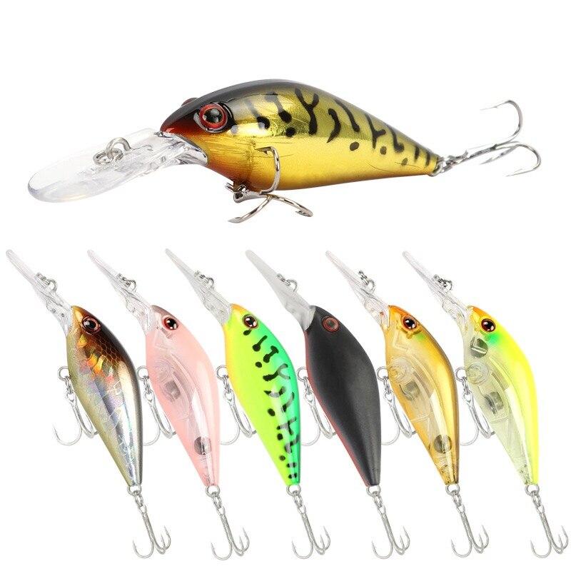 Señuelos de Pesca de Lucio 7,5 cm 8,2g Minnow cebo Crankbait Isca Artficial cebo duro pesca Wobbler Bass Fake Fish carpa