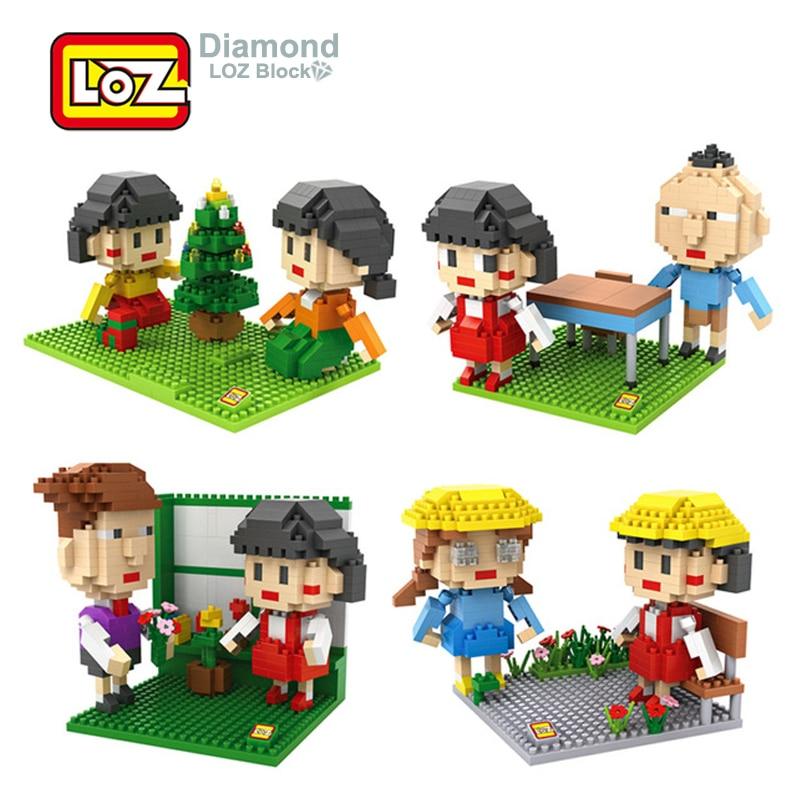 LOZ Diamond Building Block Toys Sakura Momoko Chibi Maruko японские Мультяшные фигурки аниме для детей 14 + подарок