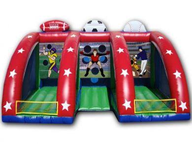 Rugby inflável jogo de tiro jogo objetivo de argola, 5*3 m, 6*4 m gigante bola inflável lance do jogo