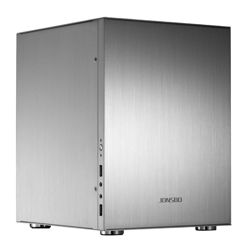 JONSBO C2 Computer Case Support ITX MicroATX Motherboard for ATX Power USB3.0 Desktop HTPC Aluminum Chassis C2S