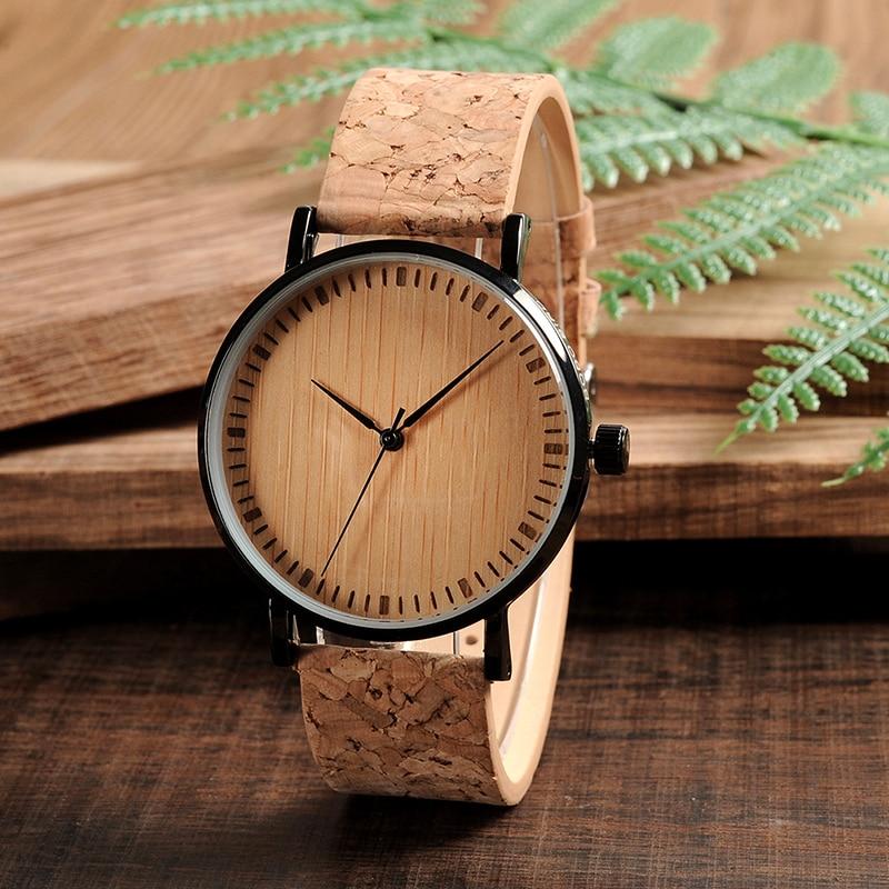 BOBO BIRD Mens Women Vintage Design Brand Luxury Wooden Bamboo Watches Ladies Watch With Leather Quartz Watch in Gift Box