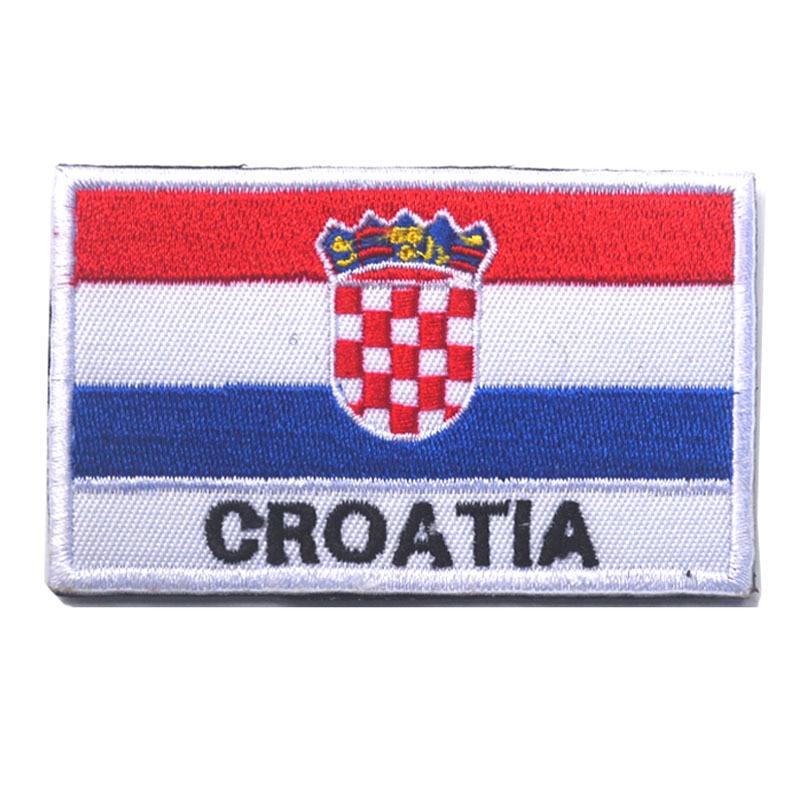 50 teile/satz Stickerei Abzeichen Kroatische Flagge Von Kroatien Military Bestickt Abzeichen Patches Rucksack Armee Militärischen Patch