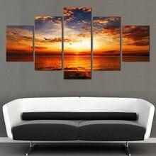 Embelish 5 Pannelli Vista Mare Paesaggio HD Stampa Su Tela Pittura Per Living Room Home Decor Immagini Modulari Manifesti Della Parete Con Cornice