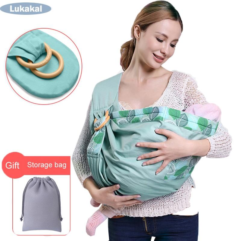 Nuevo portabebés para recién nacido, portabebés, cabestrillo de carga de 20KGS, envoltura duradera para bebé, canguro ergonómico para bebé