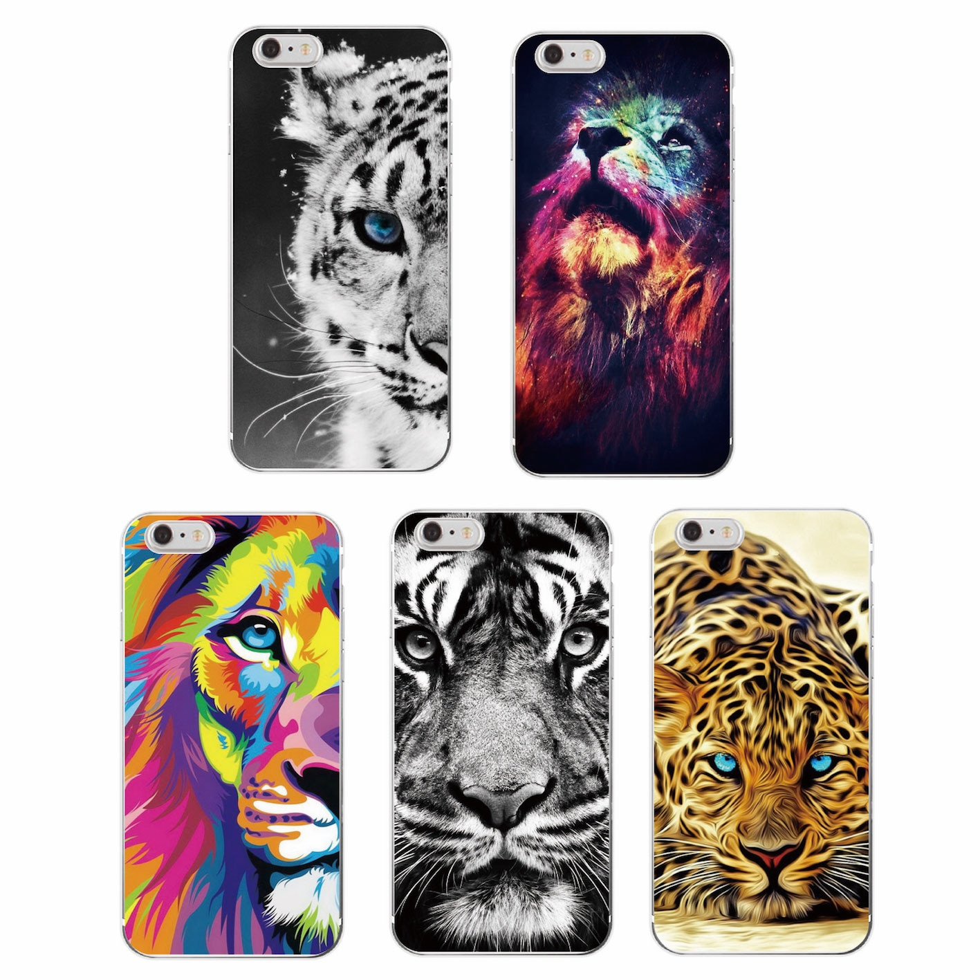 Модный мягкий чехол с рисунком льва, тигра, пантеры, леопарда, для iPhone 11, 7, 7 Plus, 6, 6 S, 5S, 8, 8 Plus, X, XS Max, SAMSUNG GALSXY, S8, S8P