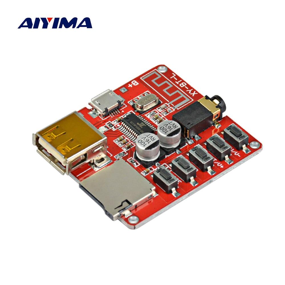 AIYIMA 3,7-5 V inalámbrico Bluetooth placa decodificadora de MP3 WAV APE FLAC sin pérdida de decodificación apoyo Micro USB TF tarjeta