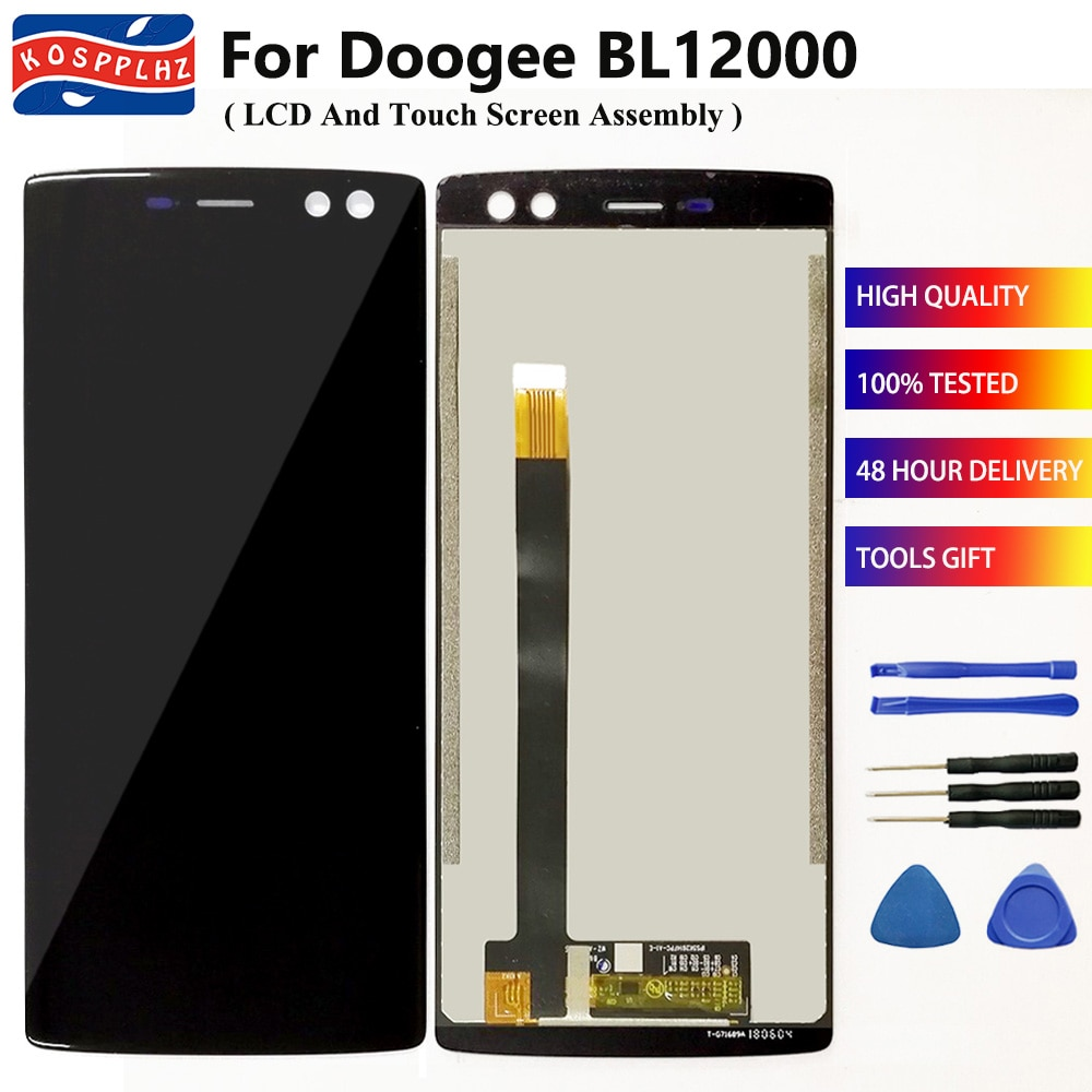 100% probado para Doogee BL12000 BL12000 Pro LCD Display MONTAJE DE digitalizador con pantalla táctil para Doogee BL 12000 BL12000Pro teléfono móvil
