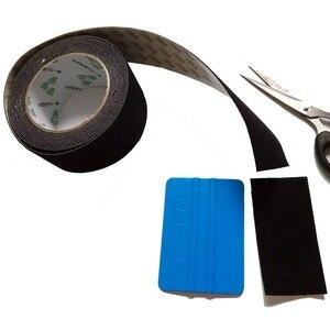Image 4 - 5 м/рулон, автомобильная виниловая пленка, скребк, 5 см, войлочная кромка, черная ткань, 3 м, скребк, запасной войлок для автомобиля, скребок A08 5M