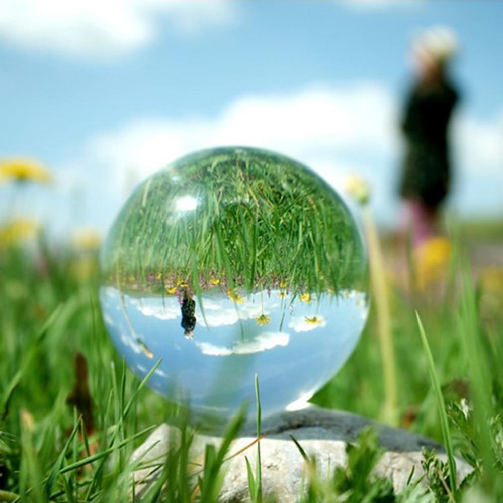 كرة بلورية كبيرة شفافة ، 200 مللي متر ، ديكور منزلي ، عرض خاص