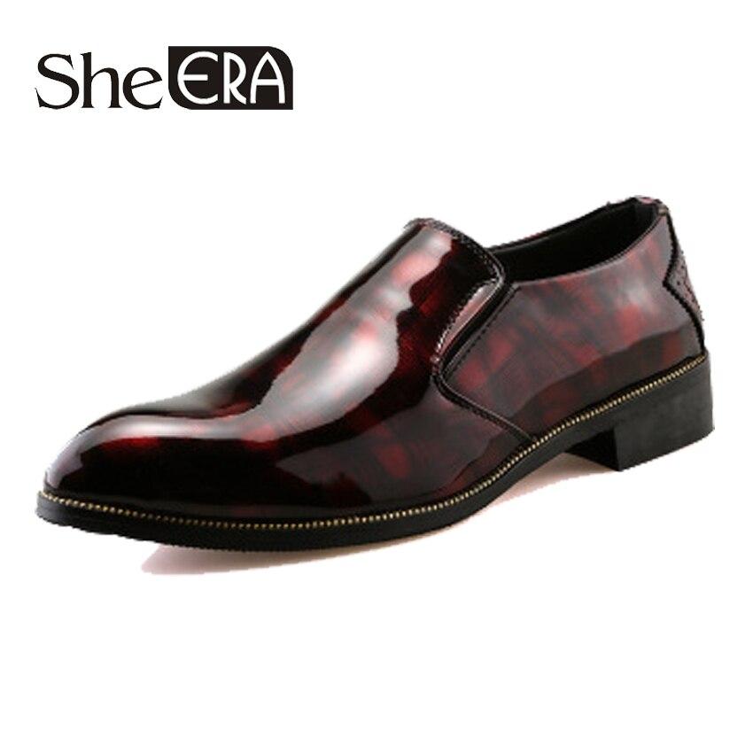 She ERA 2018 Zapatos de vestir para hombres, zapatos de vestir para adultos de cocodrilo con punta en punta, zapatos formales de moda de oficina Social, zapatos formales para hombre