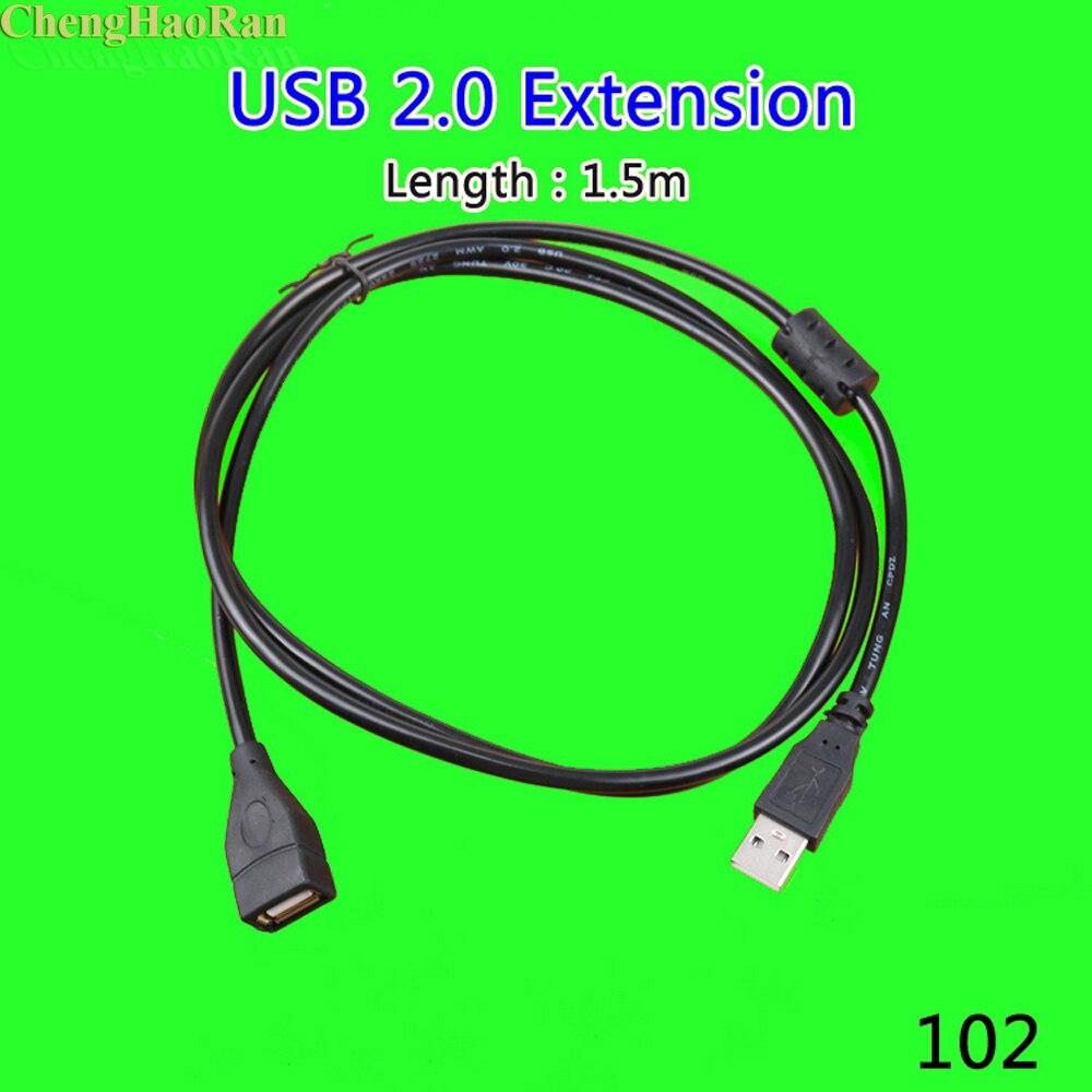 ChengHaoRan 1 piezas 1,5 metros USB 2,0 cable extensible macho a hembra...