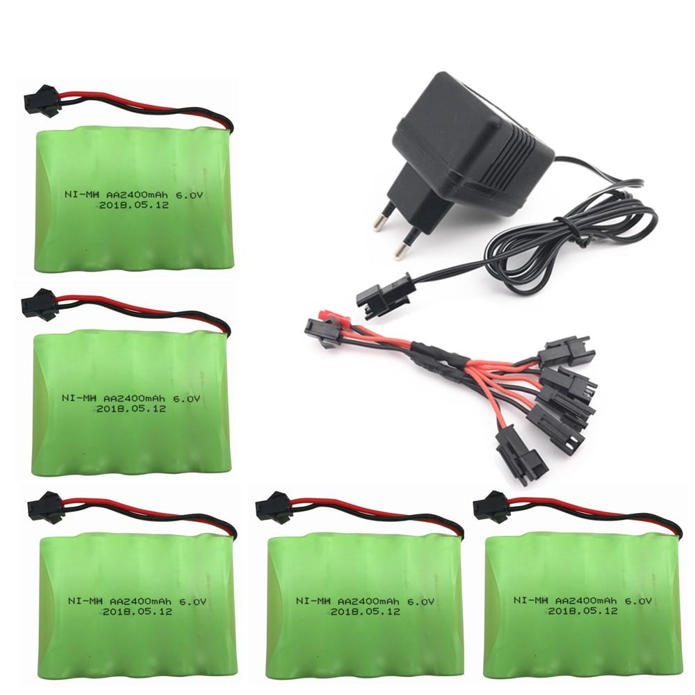 6 v 2400 mah AA Ni-MH батарея с зарядным устройством, высокая емкость, электрическая игрушечная батарея, удаленный автомобиль, корабль, робот, переза...