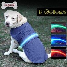 DogLime Dog Supplies Dog Coats Jackets Waterproof nylon cloth pet clothes Dog clothes LED light bar pet clothing JUN8