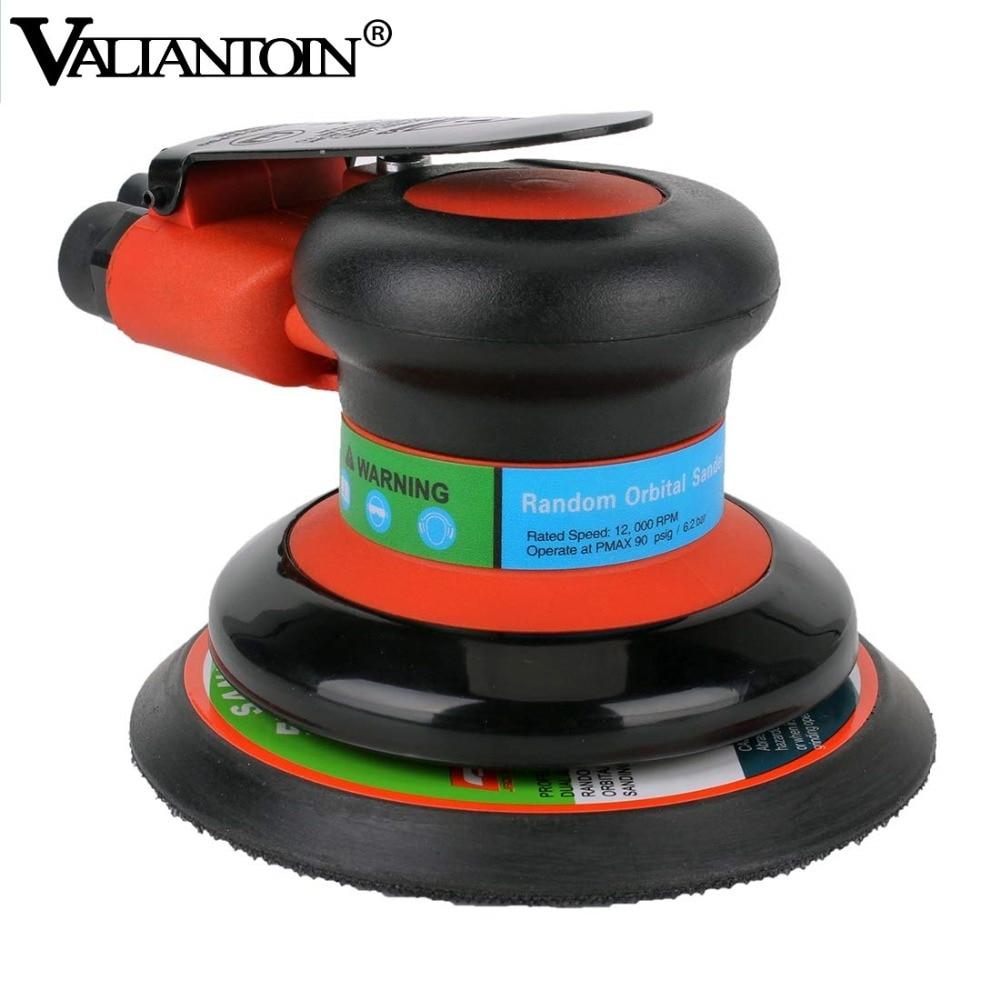VALIANTOIN Air Random Orbital Palm Sander Polisher for 5inch 125mm Pad Pneumatic Power Tool Air Sander Free Shipping