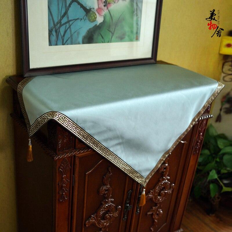 Маджонг покрытие скатерти простой Пейзаж Вышивка свадебная комната диван домашний отель постельные принадлежности украшение на холодильн...