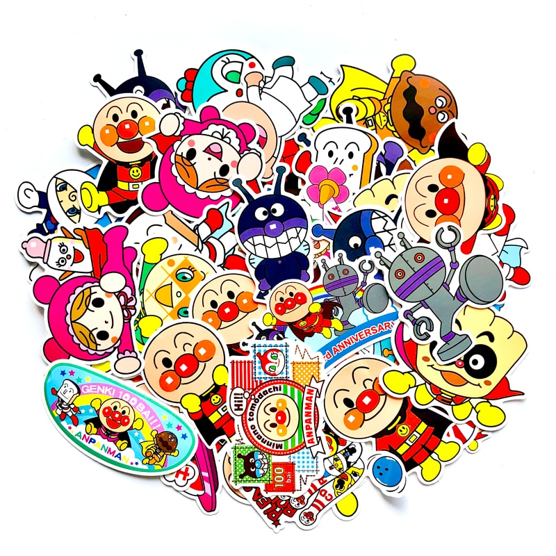 57 unids/lote pegatinas de Superman de pan de dibujos animados lindo álbum decorativo Notebook maleta motocicleta pegatina juguetes para niños DIY calcomanías