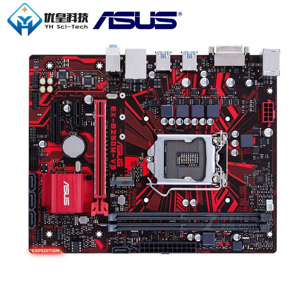 Asus EX-B250M-V5 Intel B250 orijinal kullanılan masaüstü anakart LGA 1151 çekirdek i7/i5/i3/Pentium/Celeron DDR2 32G Micro ATX
