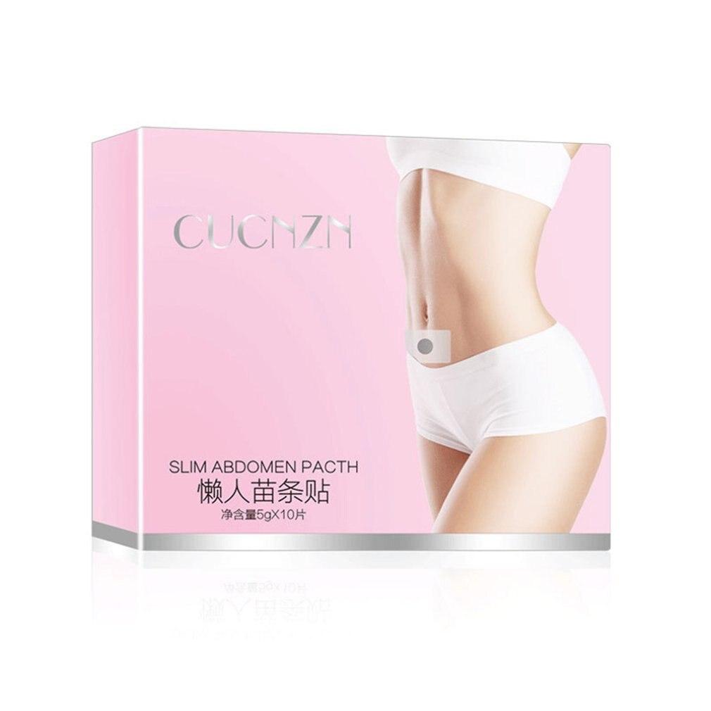 10 unids/set uso Personal cuerpo de las mujeres adelgazamiento pegar pegatinas vientre parche quema grasa adelgazar perder peso parche