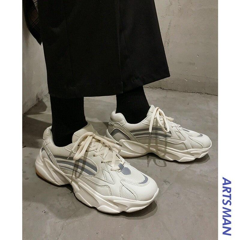 Unisex Vintage papá hombres Joker Zapatos Kanye moda West malla luz transpirable hombres Casual Zapatos hombres Zapatillas Hombre #700