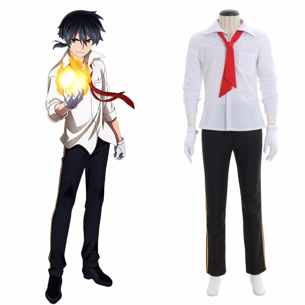 Pantalones de camisa de Cosplay de Anime Akashic registros de bastarda instructor de magia Rokudenashi mazutsu Koushi