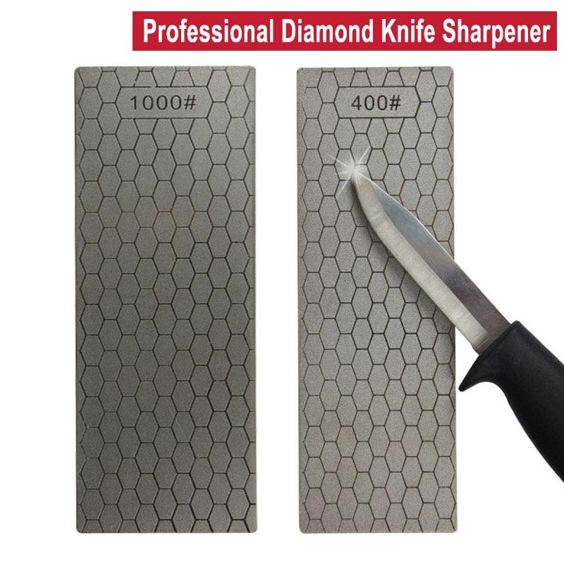 Profesional Ultra-delgada de 400/1000 # diamante Whetstone Placa de piedra de afilar helicóptero amoladora para afilar cuchillos afilador de cocina herramienta