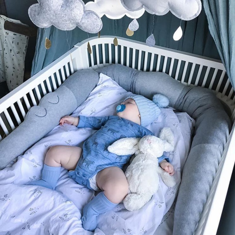 Cojín de parachoques para cama de bebé, cuna de cocodrilo de empalme de algodón, juguetes de parachoques, cerca para bebé, ropa de cama infantil suave, decoración de habitación Ins de protección