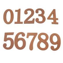 Panneau décoratif en bois 10 pièces   Numéro 0 à 9, panneau pour lartisanat de bricolage