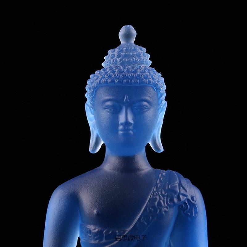 Mais novo Colorido esmalte buddha estátua Bhaisajyaguru medicina Buddha bodhisattva Buddha estatueta figura Bhaisajya Boa sorte