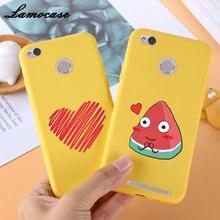 Lamocase etui na telefon xiaomi redmi 3S 4X 4A Case żółty pokrywa śmieszne bananowe ładne pokrowce dla redmi 5 6 6A 7 uwaga 7 PLUS Coque