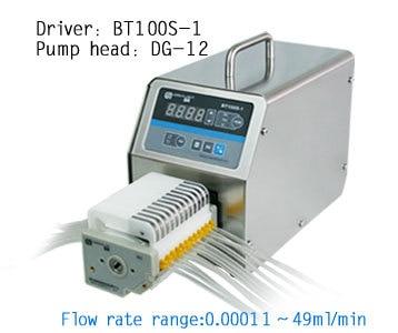 BT100S-1 DG10-12 (10 rodillos) laboratorio Variable Industrial baja velocidad de flujo dosificación bomba peristáltica fluido dosificador 0,00011-20 ml/min